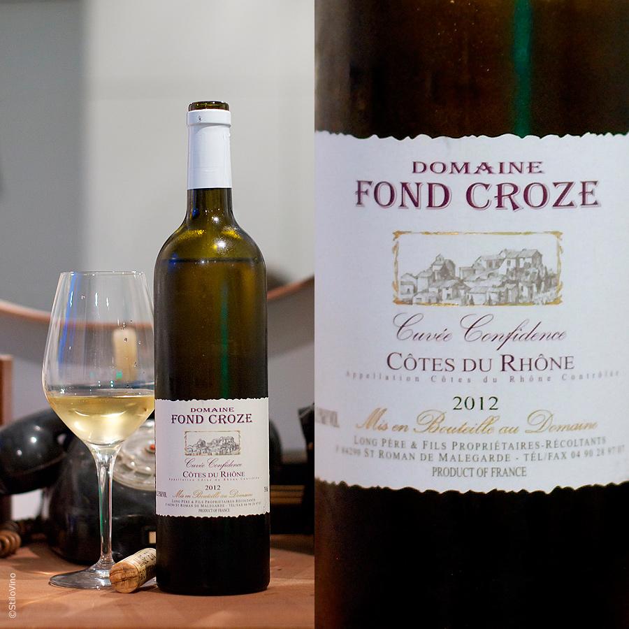 Domaine Fond Croze Cuvee Confidence Cotes du Rhone Blanc