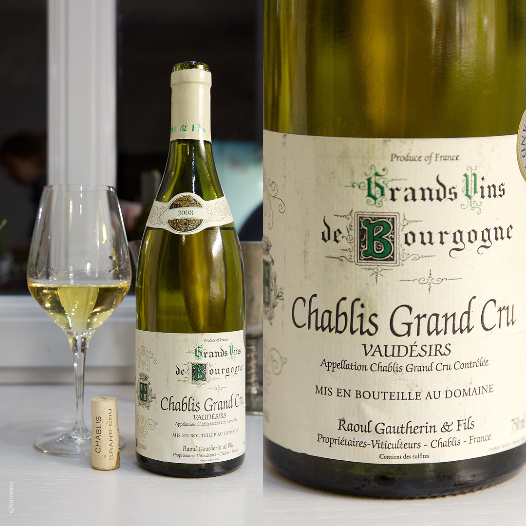 Французское вино Chablis Grand Cru Vaudesirs Raoul Gautherin 2008