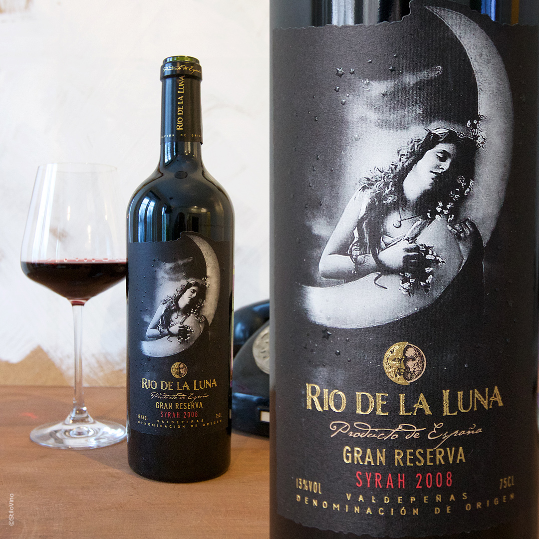 Испанское вино Rio de la Luna Syrah Gran Reserva 2008